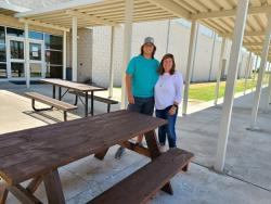 RMMS Receives Five Picnic Tables from Former Student