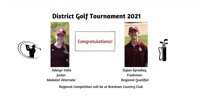 THS Golf District Tournament Results