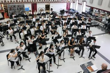 THS Concert Band Records UIL Competition
