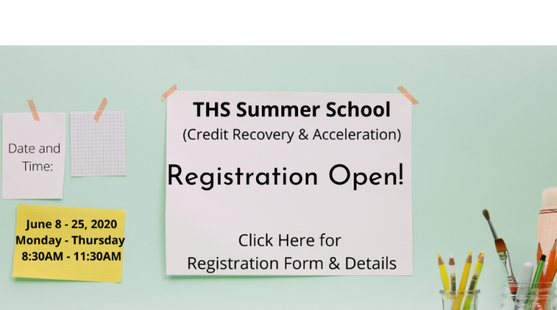 THS Summer School Registration