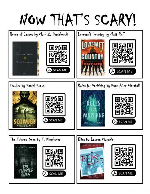 QR Codes for Horror Books