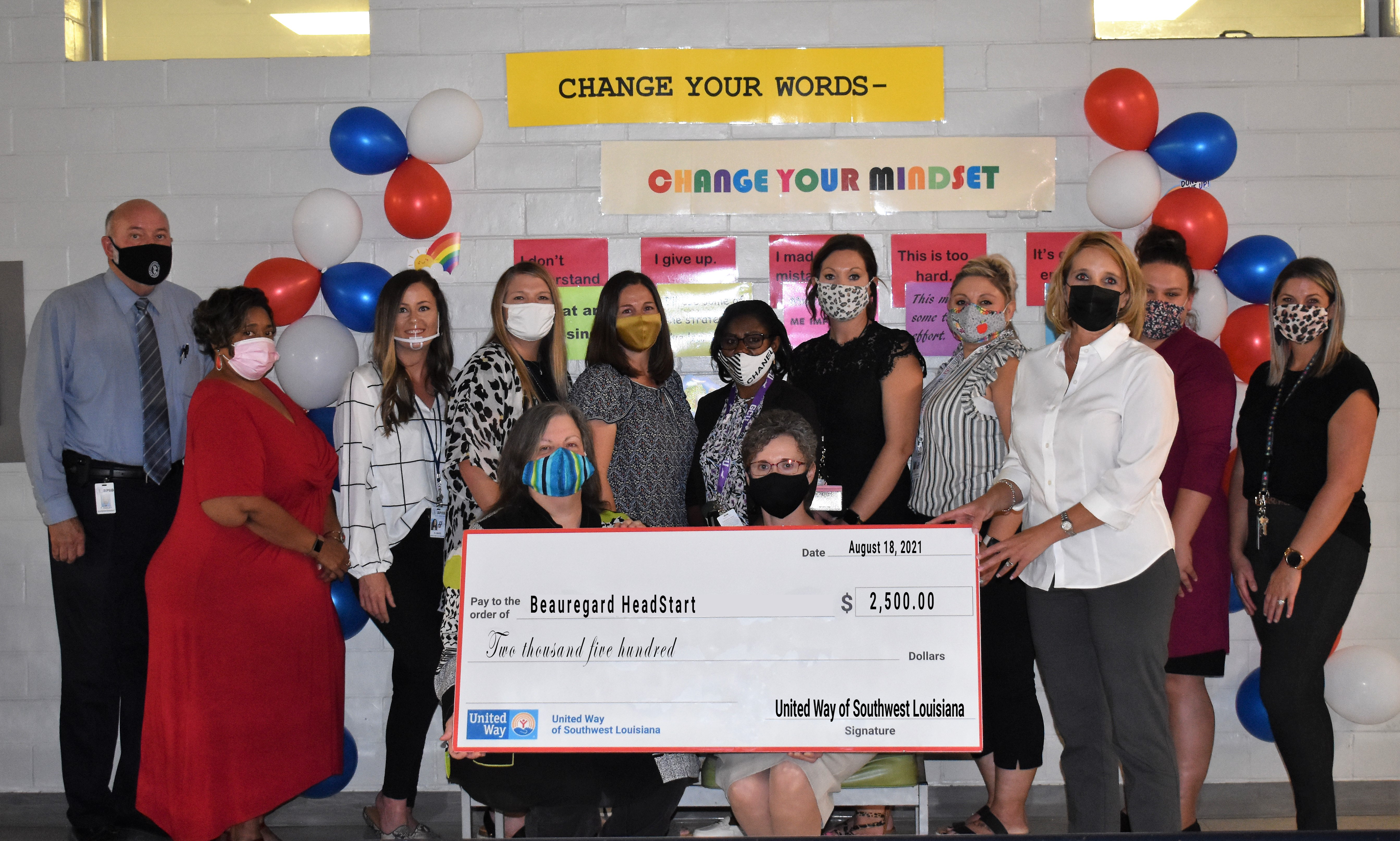 United Way contribution of funds for Head Start students