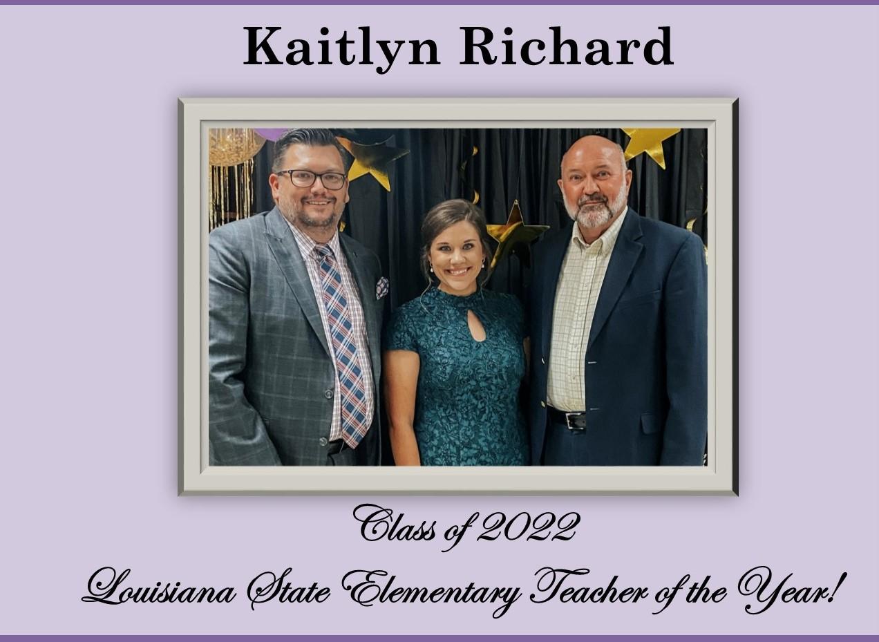 Kaitlyn Richard Louisiana Elementary Teacher of the Year