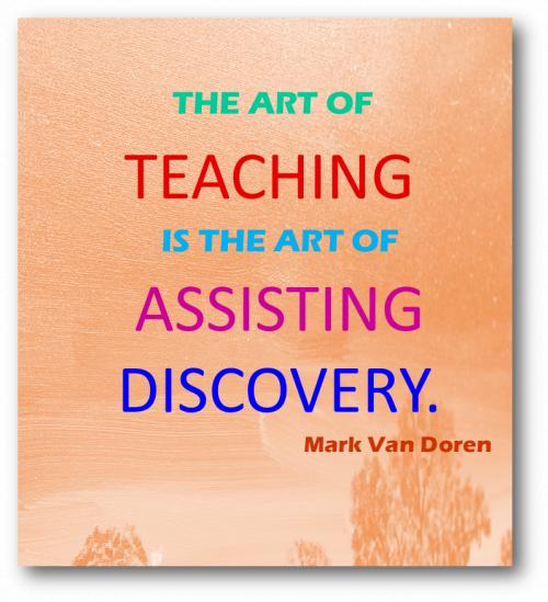 Mark Van Doren on the Art of Teaching