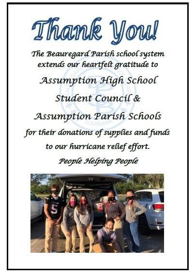 Hurricane Laura Donation Thank You