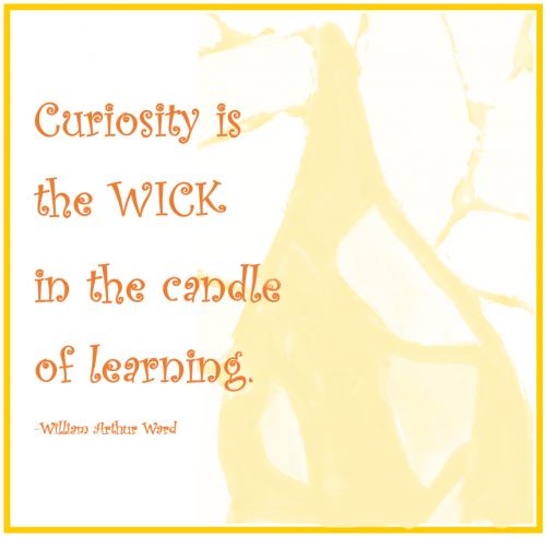 William A. Ward - Curiosity is...