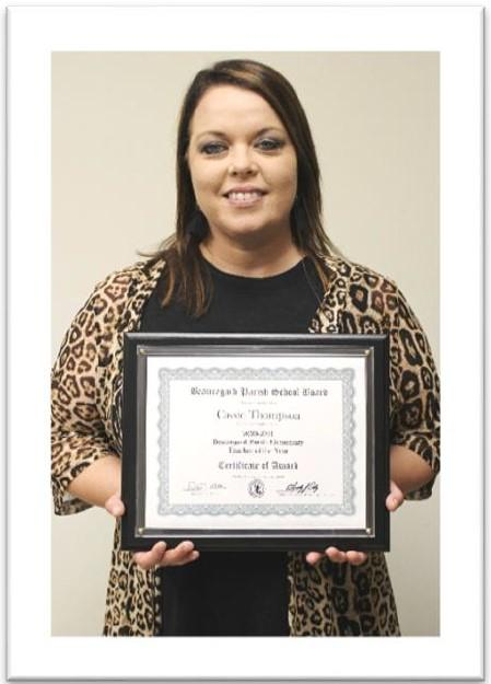 BPSB Teacher of the Year State Finalist