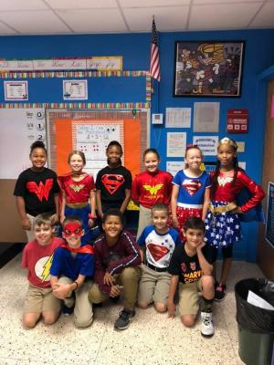 Red ribbon week superhero day
