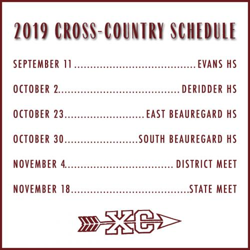 2019 Cross-Country Schedule