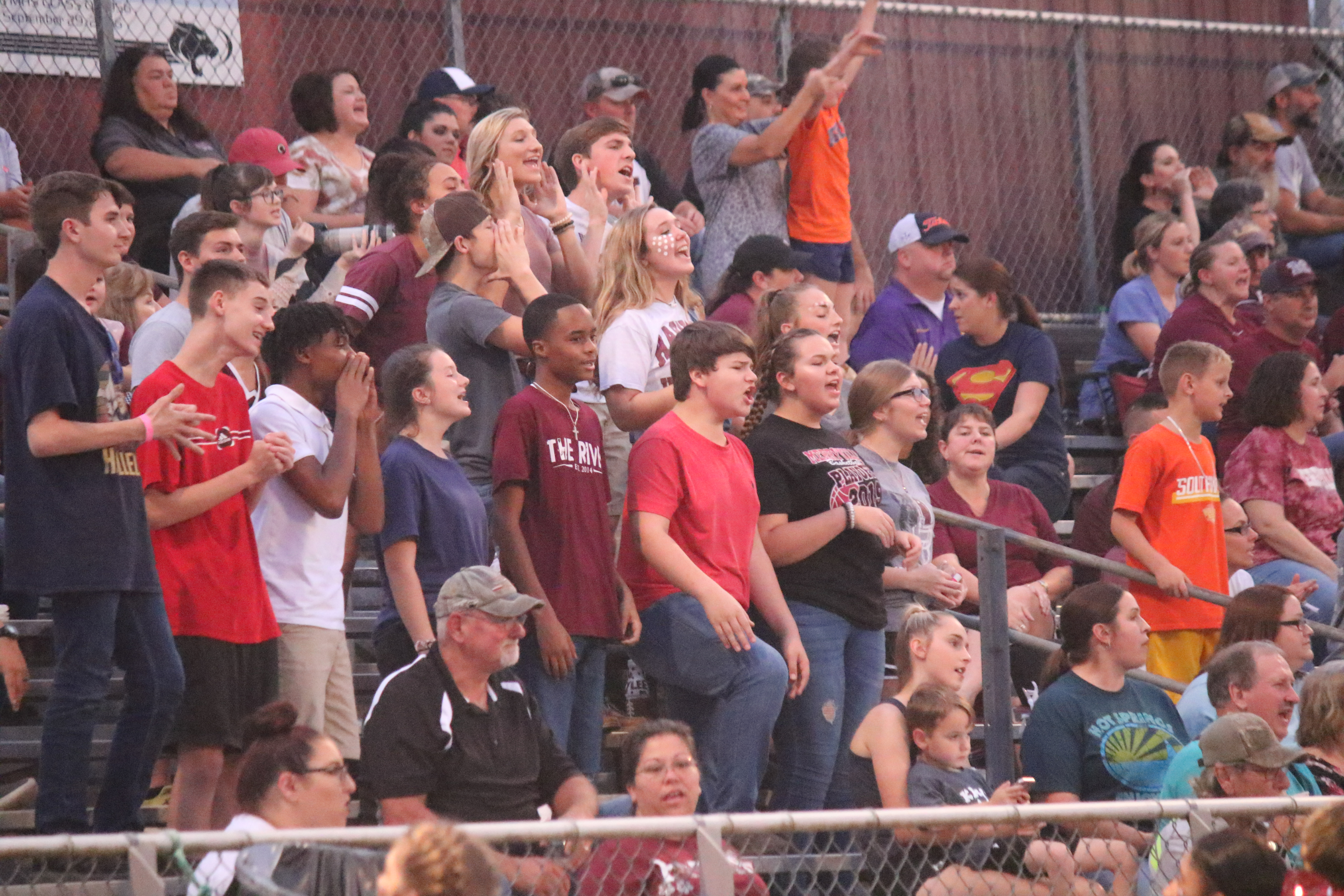 Student Section at Football Game