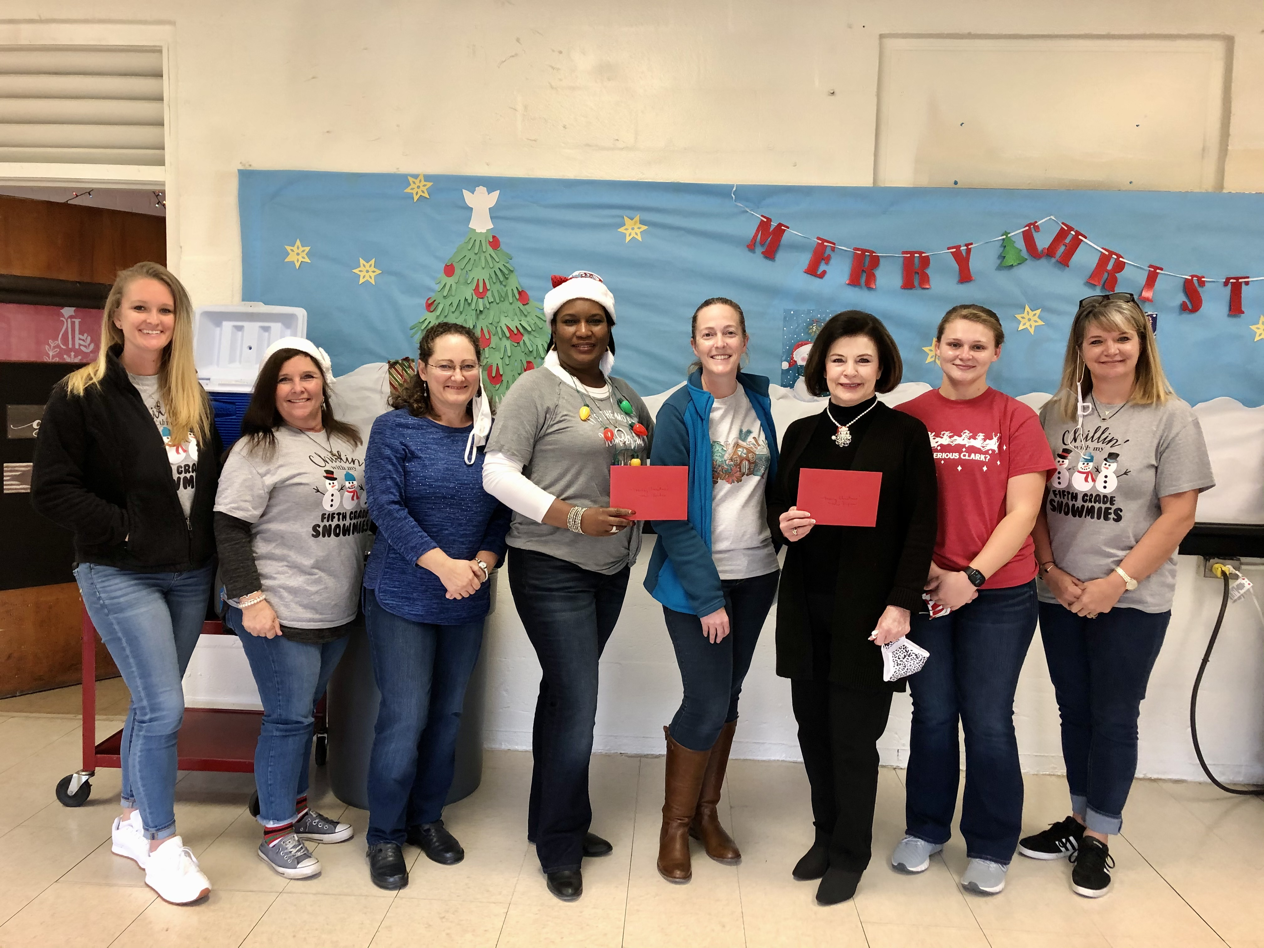 Mrs. Lauing, Mrs. Alston, Mrs. Sonnier, Mrs. Spikes, Nurse Primeaux, Mrs. Dixon, Miss Brown, Mrs. Shirley