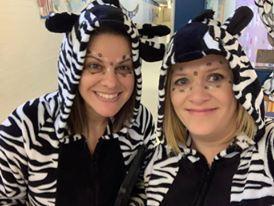 Zebra Teachers for the Day