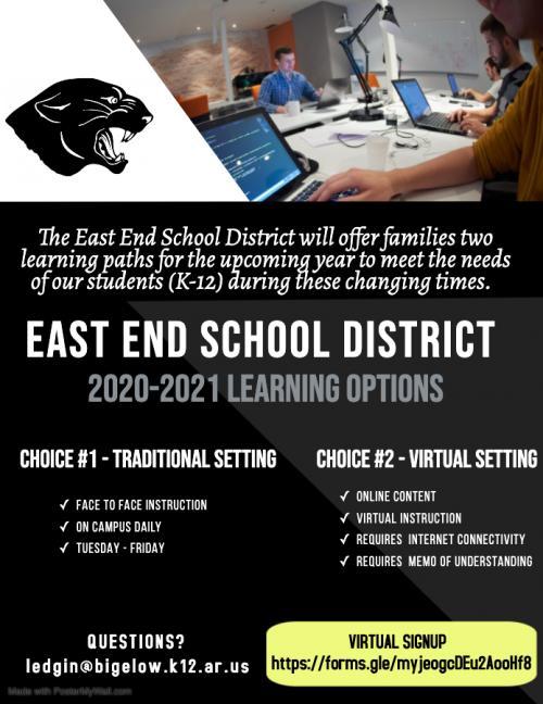 2020-2021 Online Options Flyer