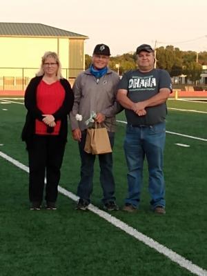 Josh Powers with Parents on Senior Night
