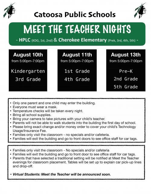 HPLC/Cherokee Meet Teacher