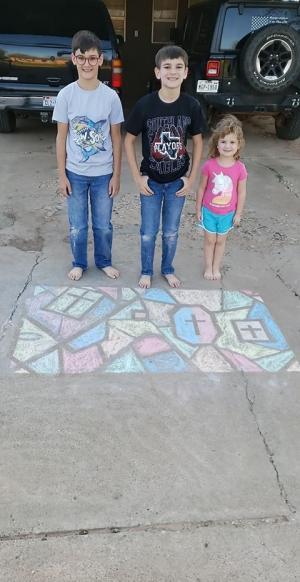 The Yarbros share some inspirational sidewalk chalk artwork.