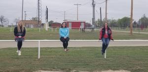 Trea, Kalli and Elizabeth practicing social distancing.