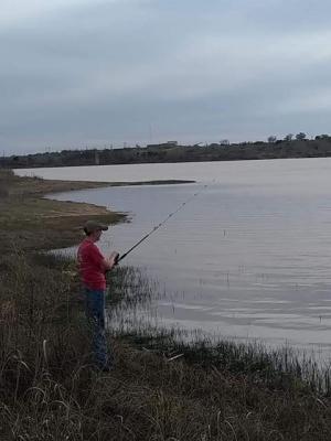 Wes Wilks enjoying some fishing.