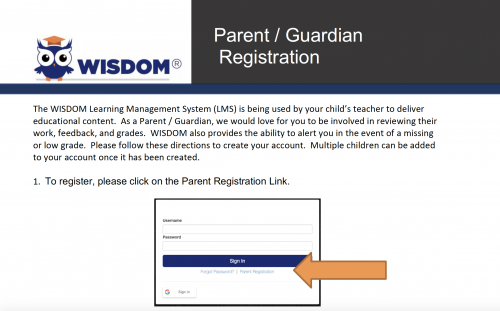 Parent Registration Directions