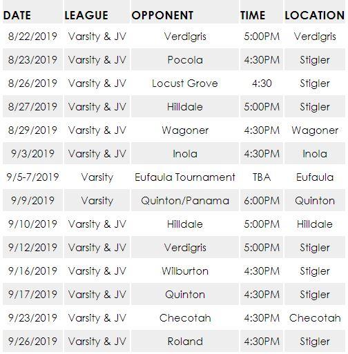 Fastpitch Softball 2019 Schedule