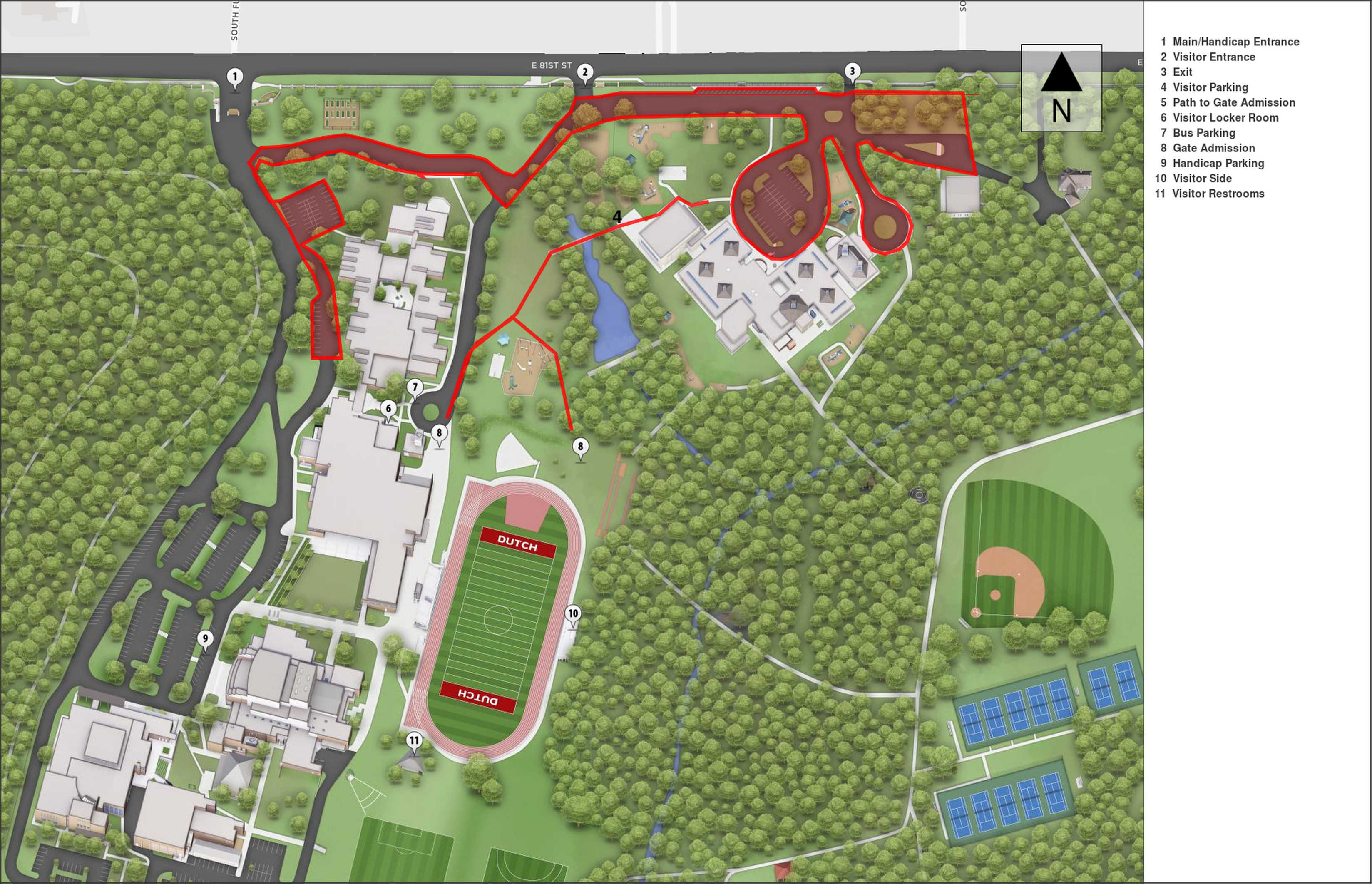 Map of Holland Hall