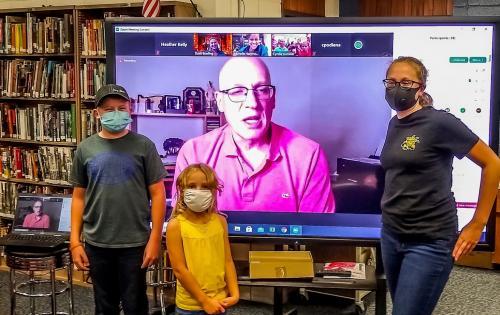 Students at WAW Award Virtual Meeting