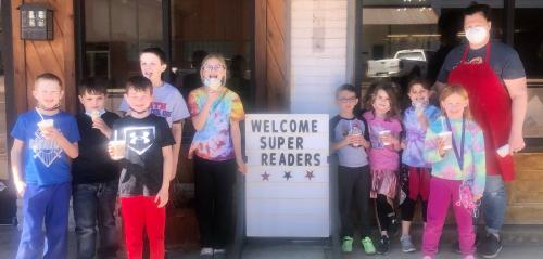 Super Readers at Batson's: Welcome Super Readers on Sign