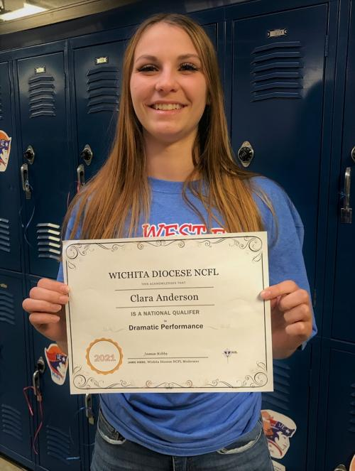 Clara Anderson with her Forensics Certificate