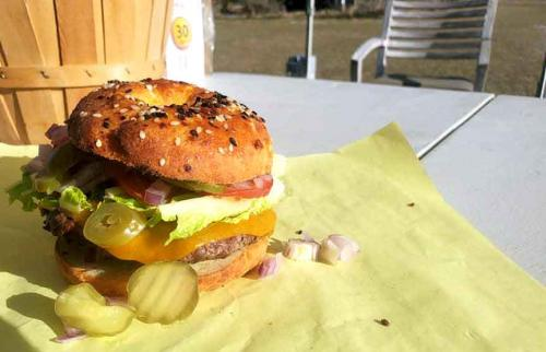 ruby cattle company burger at yellow cottage
