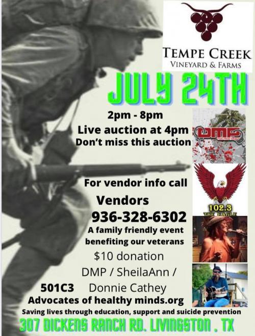 tempe creek vineyard event supporting veterans flyer