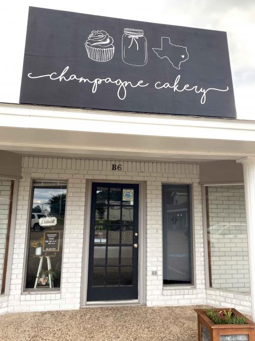 champagne cakery storefront