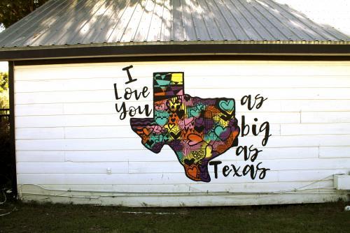 love you as big as texas mural