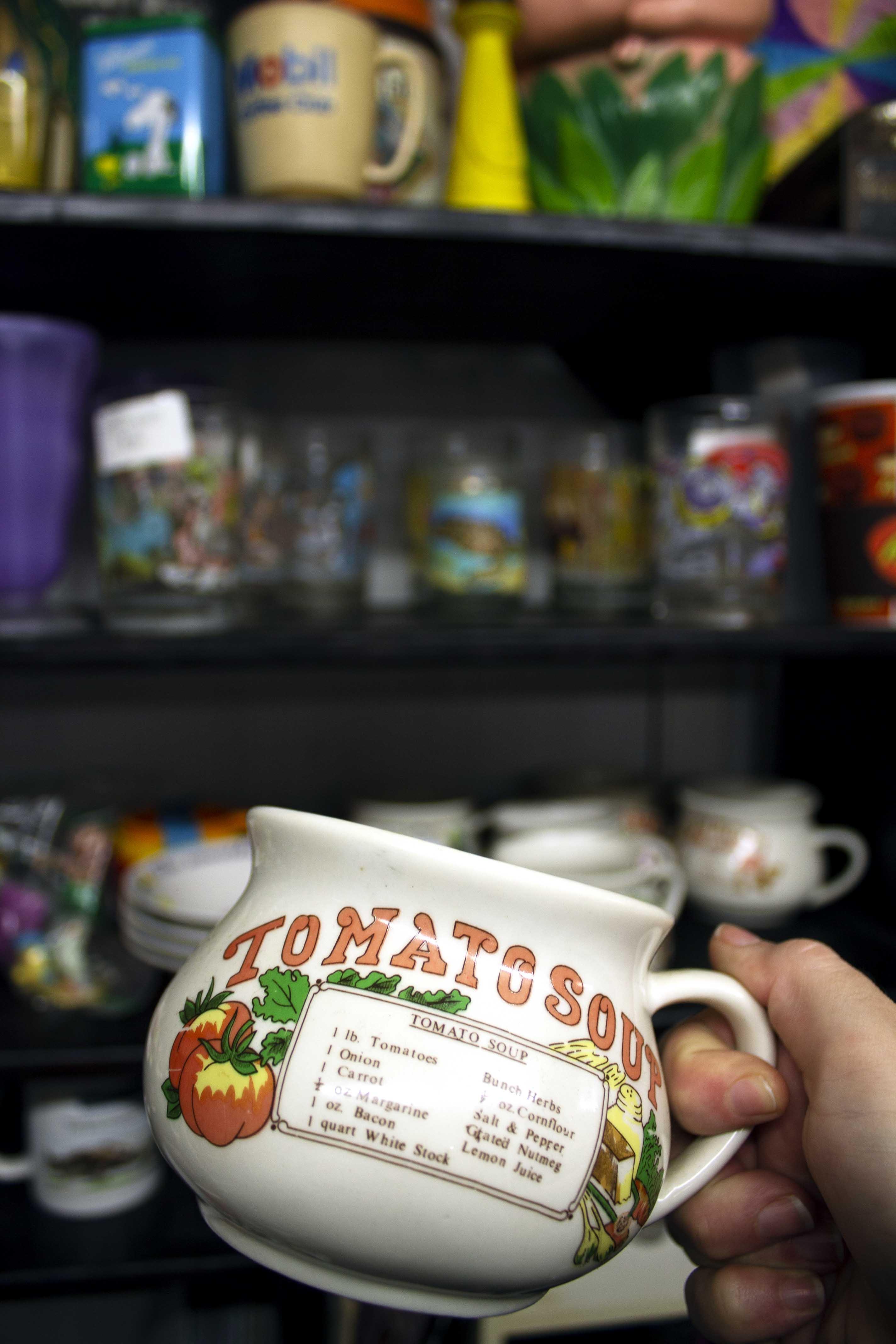 large vintage soup cups