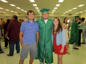 Jackson's graduation with Jonathan and Erica