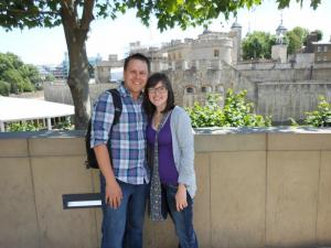 Mike and me in front of the famous Tower of London