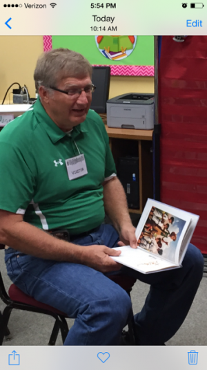 Mr. Jerry Thomason, one of our Guest Grandparent Readers