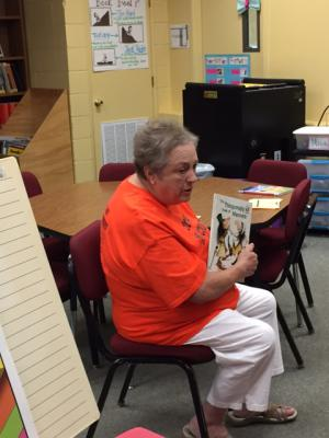 Mrs. Loretta Moore, one of our grandparent guest readers