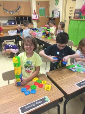 Morning Bins have been a huge success! The students love coming in to fun, hands-on activities in the mornings!