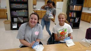 The Food & Nutrition class enjoyed making ice cream in a bag.  Tasty!