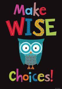 I love owls - but also, this message - wise choices are what matters!!!