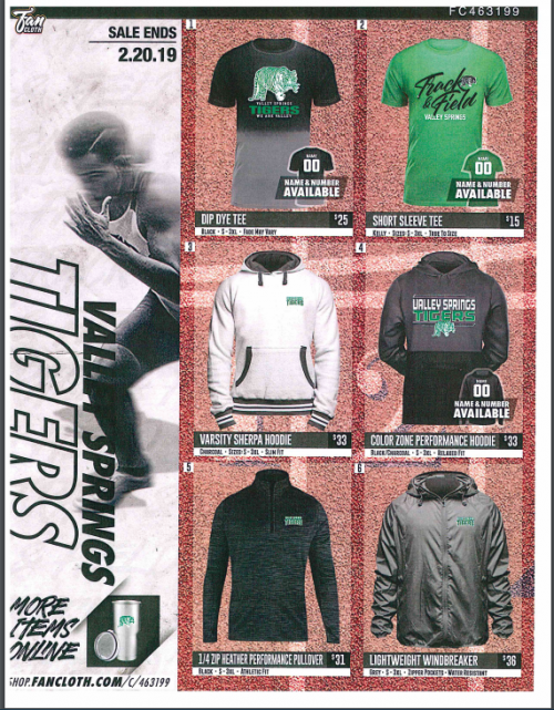 Track and Field Fundraiser Brochure