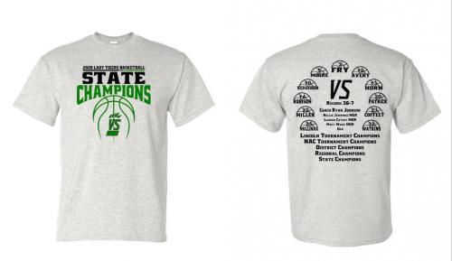 2020 Lady Tiger State Champion T-Shirts/Gear