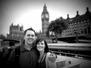 Taking a tour of London via the Thames (Big Ben in the background)