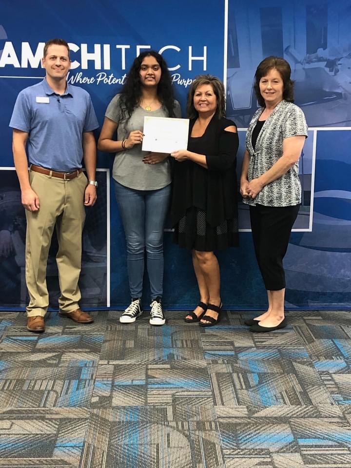 August's High School Student of the Month Sponsored by First Bank is Payal Patel from the Health Careers Program