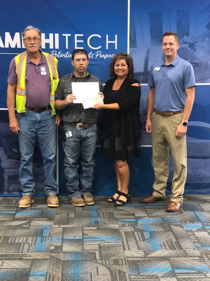 August's Adult Student of the Month Sponsored by First Bank is Michael Gurry from the Heavy Equipment Operator Program