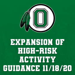 Expansion of High-Risk Activity Guidance Nov 18 2020