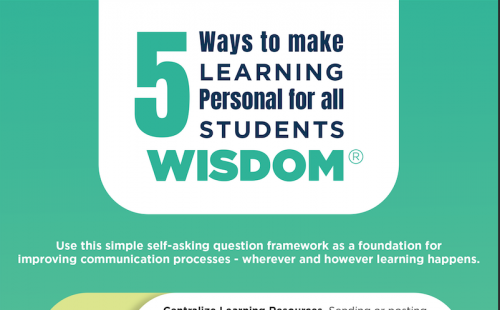 5 Ways to make learning personal flyer