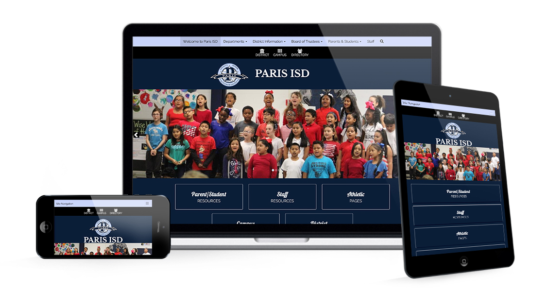 Paris ISD Responsive Graphic