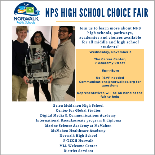 DISTRICTWIDE SCHOOL CHOICE FAIR FOR INCOMING HIGH SCHOOL STUDENTS
