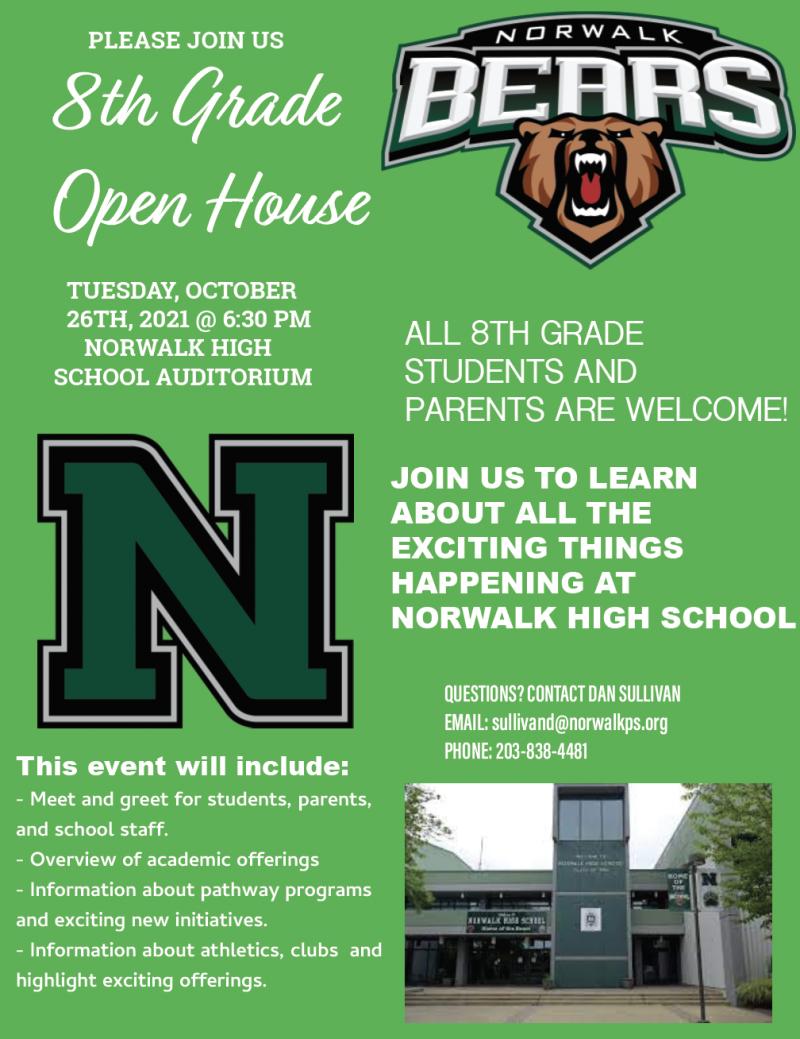 8th Grade Open House 10/26